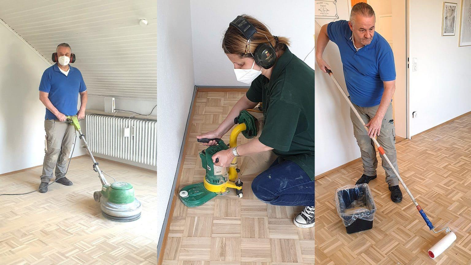 Die einzelnen Arbeitsschritte in der Hagener Wohnung nach einem Wasserschaden.